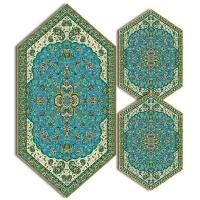 سری سه تکه ترمه طرح شاه عباسی کد 814